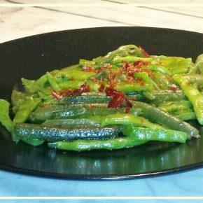 Salteado de verduritas Frescas de Navarra con jamón_33